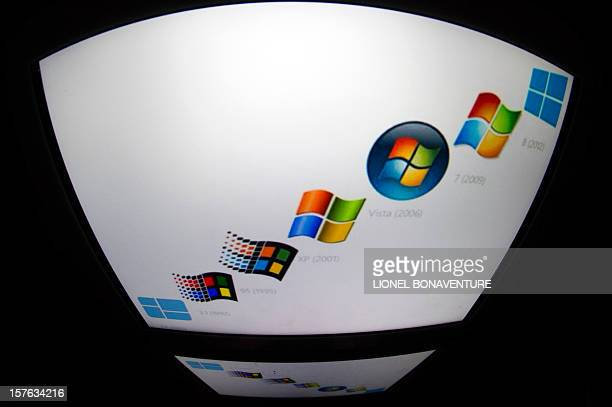 The 'Microsoft' logo is seen on a tablet screen on December 4 2012 in Paris AFP PHOTO / LIONEL BONAVENTURE