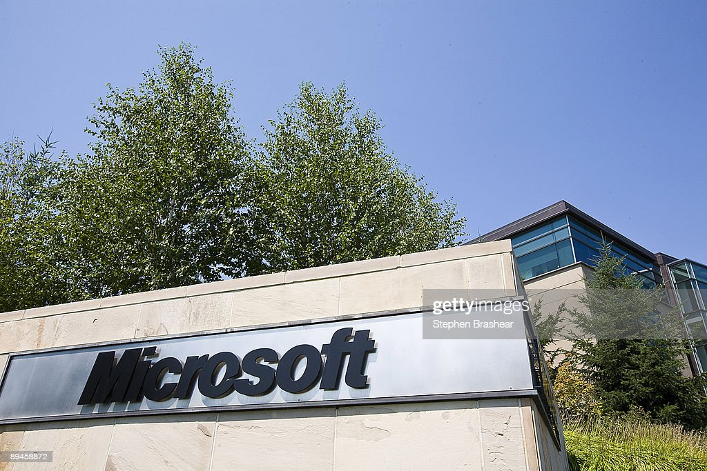 The Microsoft name is displayed on a sign outside a building on the company's campus July 29, 2009 in Redmond, Washington. Microsoft and Yahoo! have announced a 10-year internet search partnership in an attempt to take away users from search giant Google.