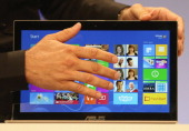 The Microsoft Windows 8 operating system is unveiled at a press conference on October 25 2012 in New York City Windows 8 offers a touch interface in...