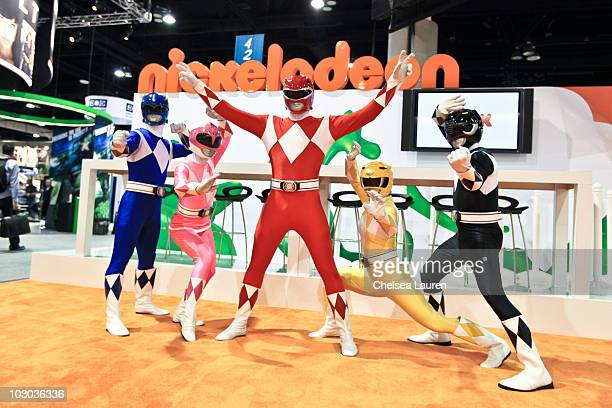 The Mighty Morphin Power Rangers attend ComicCon International at the San Diego Convention Center on July 22 2010 in San Diego California