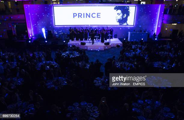 The Mike King Collective performing during the PFA Awards at the Grosvenor House Hotel London
