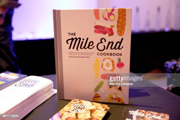 'The Mile End Cookbook' displayed during Broadway Tastes presented by Variety at Metropolitan West on October 15 2017 in New York City