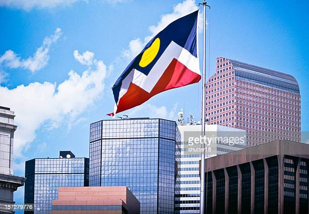 The Mile High City with Flag