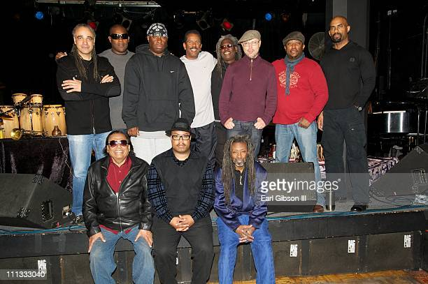 The Miles Davis Festival Band top row Mino Cinelu DJ Logic Vince Wilburn Jr Munyungo Jackson Blackbyrd McKnight John Beasley Darryl Jones and Gary...