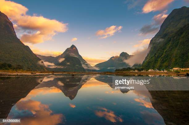 The Milford Sound fiord. Fiordland national park, New Zealand