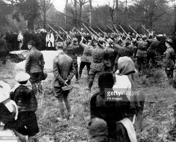 The military funeral of Baron Manfred Freiherr von Richthofenthe 'Red Baron' shot down on the 21st of April 1918 At his burial at the village of...