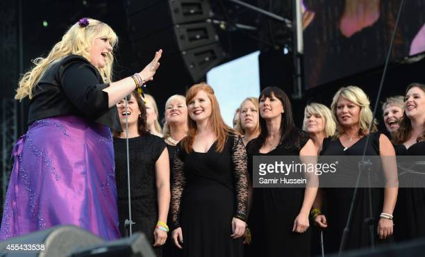 The Military Wives perform onstage during the Invictus Games Closing Concert at the Queen Elizabeth Olympic Park on September 14 2014 in London...