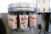 The milk shake blender at the first McDonald's restaurant opened by founder Ray Kroc now a museum run by the restaurant chain in Des Plaines IL On...