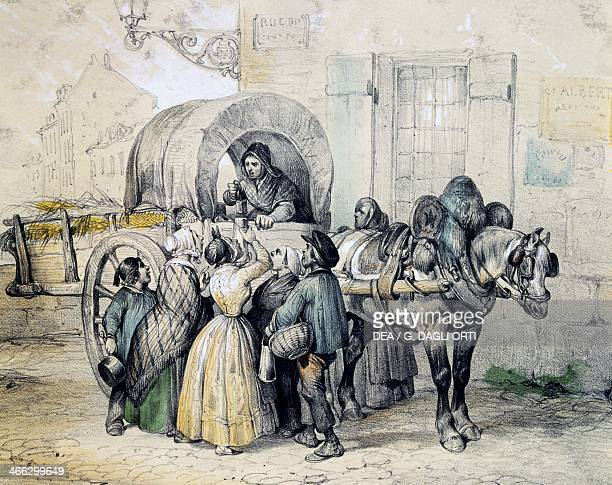 The milkman's wagon print France 19th century