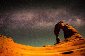 The Milky Way above Delicate Arch, Arches National Park