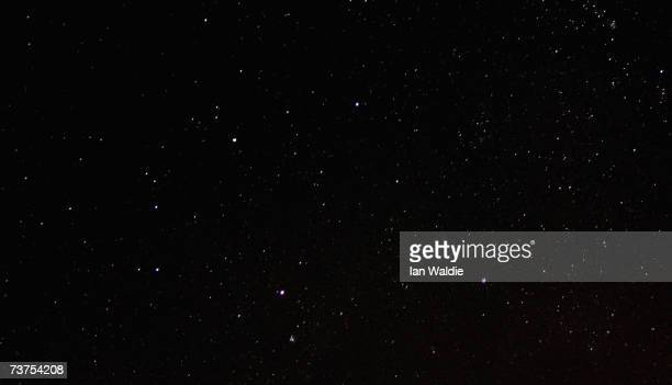 The Milky Way and the Southern Cross become visible above the Sydney Opera House during Earth Hour March 31 in Sydney Australia The entire city of...