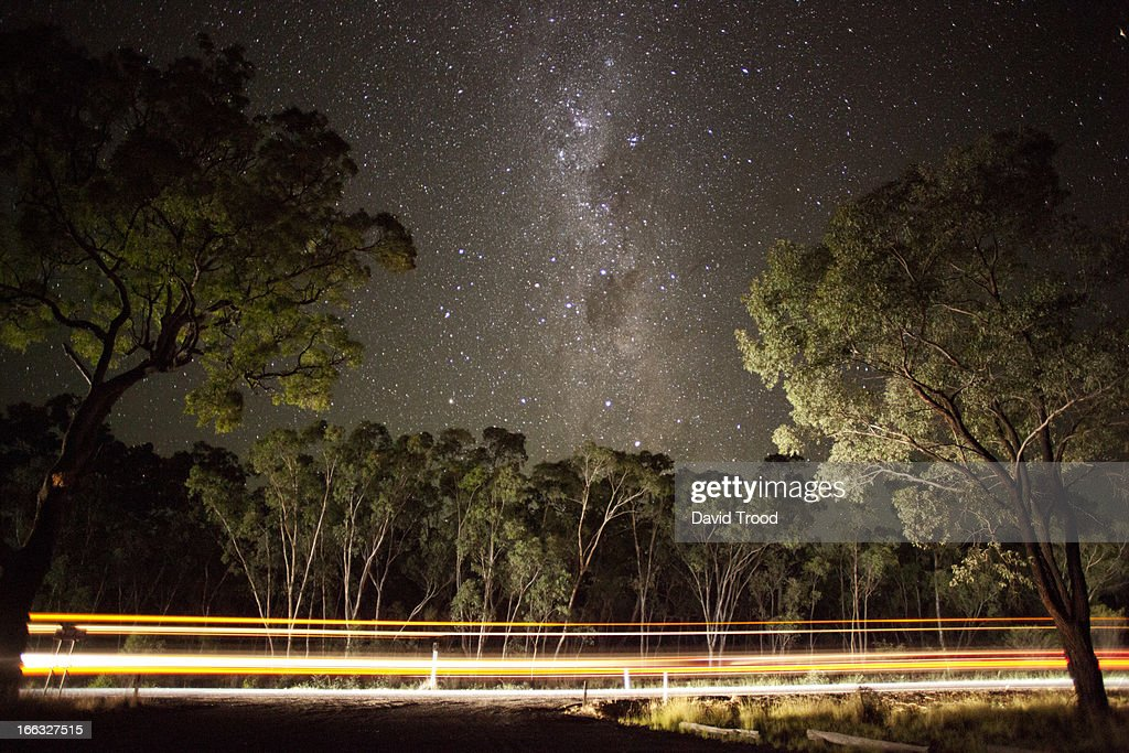 The Milky Way by the roadside. : Stock Photo