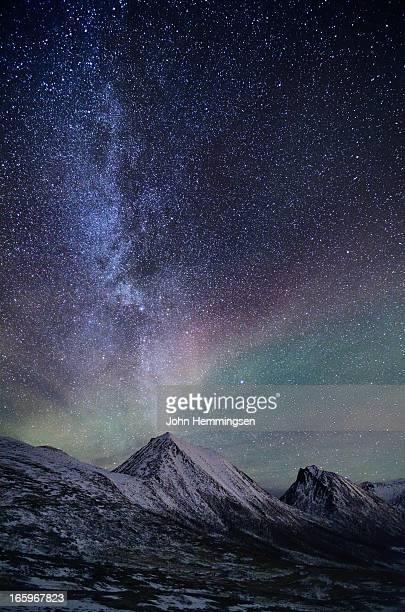 The Milkyway and a faint aurora over S?rtinden