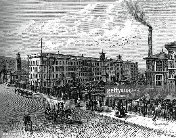 The mill at Saltaire c1880 Sir Titus Salt discovered a method of blending alpaca wool with cotton and silk He is best remembered as the builder of...