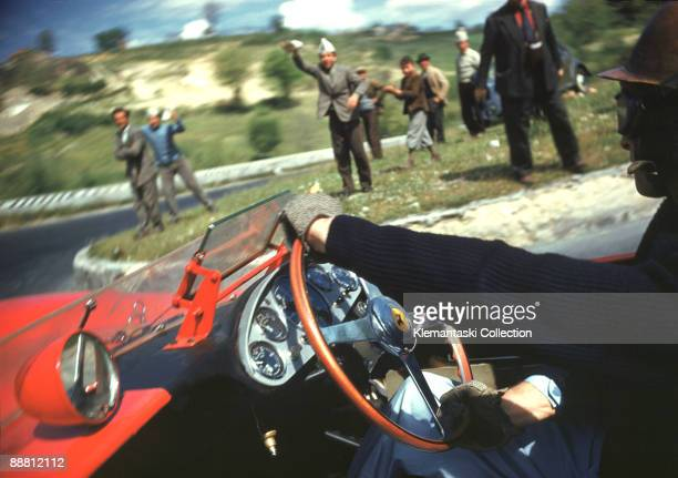 The Mille Miglia May 1112 1957 This superb photograph was taken during the 1957 Mille Miglia when Klemantaski was acting as navigator for Peter...