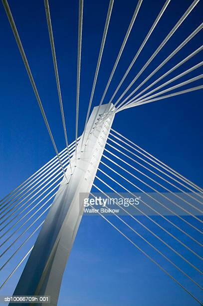 The Millenium Bridge across the Moraca River, evening, Montenegro, Podgorica