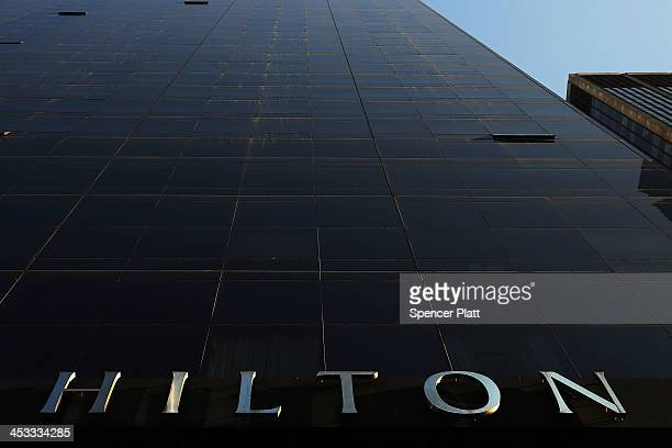 The Millenium Hilton is viewed on December 3 2013 in New York City In a highly anticipated IPO filing scheduled for next week Hilton Worldwide...