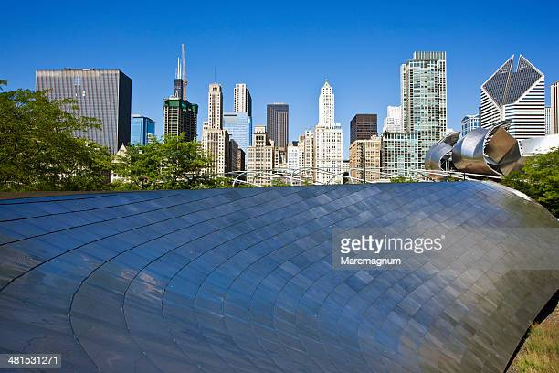 The Millenium Park, BP bridge by Frank Gehry