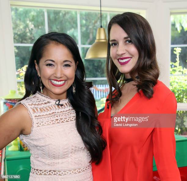 The Millennial Mamas Veena Crownholm and Erin Ziering attend Hallmark's 'Home Family' at Universal Studios Hollywood on October 16 2017 in Universal...