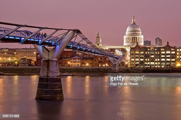 The Millennium Bridge, London.