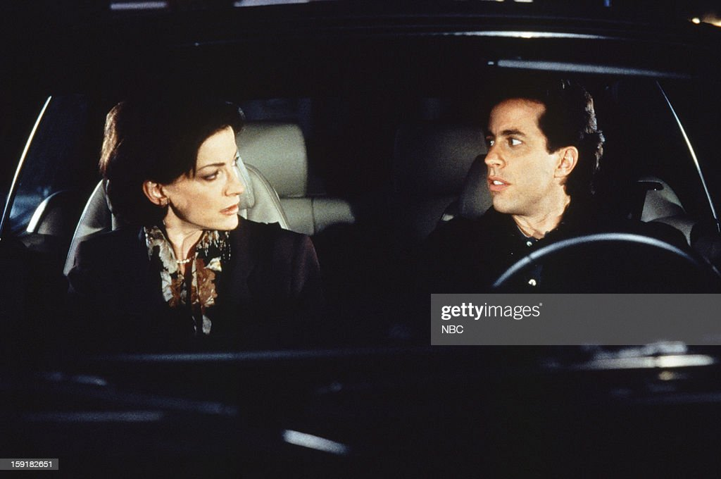 SEINFELD -- 'The Millennium' Episode 820 -- Pictured: (l-r) Louan Gideon as Mrs. Hamilton, Jerry Seinfeld as Jerry Seinfeld --