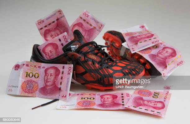 The million game Soccer players on the world market Symbol phote on the topics transfer fees premiums player transfers etc The photo shows Chinese...