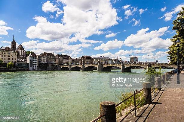 The Milltere bridge over the Rhin river in the center of Basel city