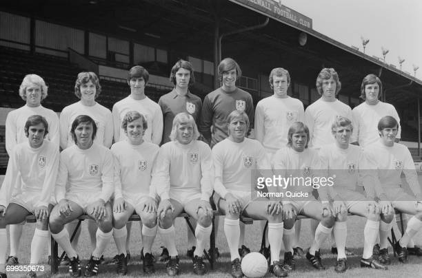 The Millwall FC team UK 19th July 1971 From left to right Billy Holmes Brian Brown Dennis Burnett David Mackie Bryan King Gordon Bolland Alan Dorney...