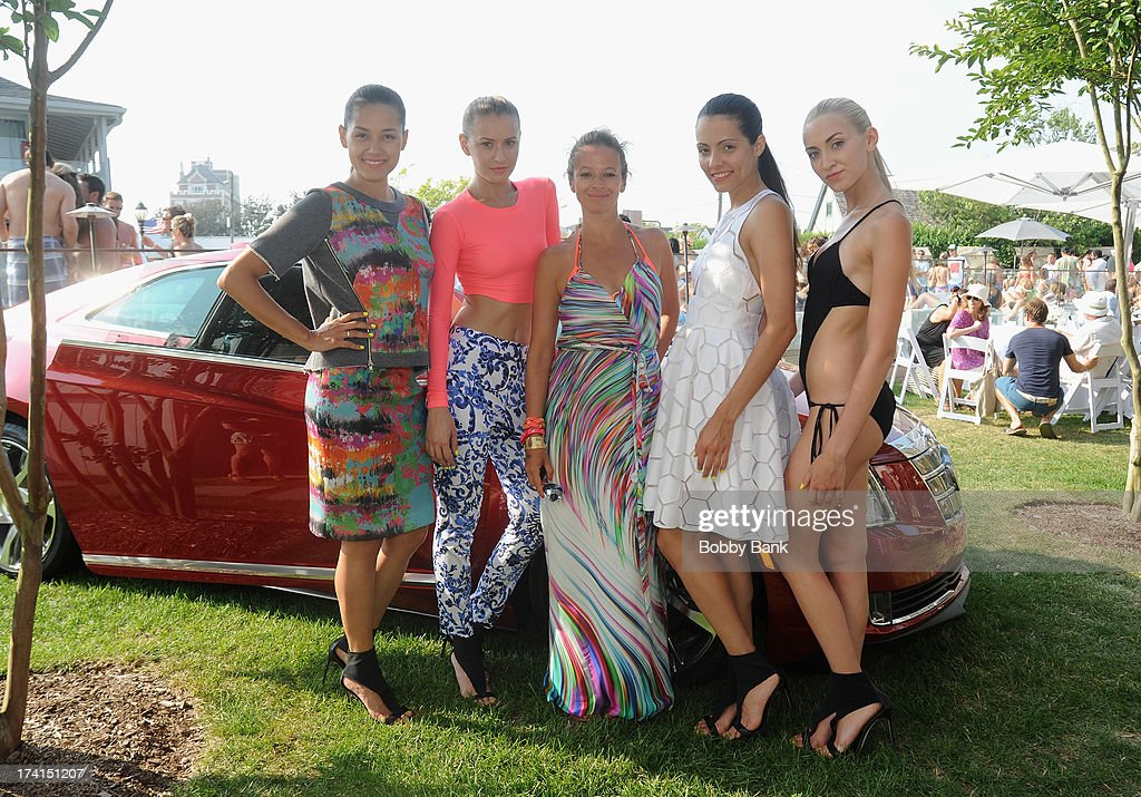 The Milly fasion models attends the opening celebration of 'Sound Waves At The House' at the Montauk Beach House on July 20, 2013 in Montauk, New York.