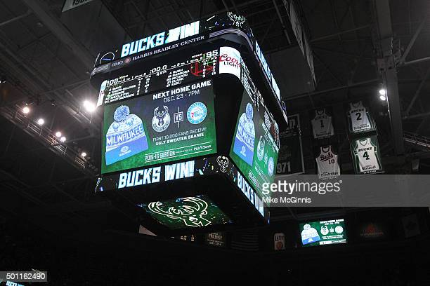 The Milwaukee Bucks won over the Golden State Warriors ending their streak at 241 tonight at BMO Harris Bradley Center on December 12 2015 in...