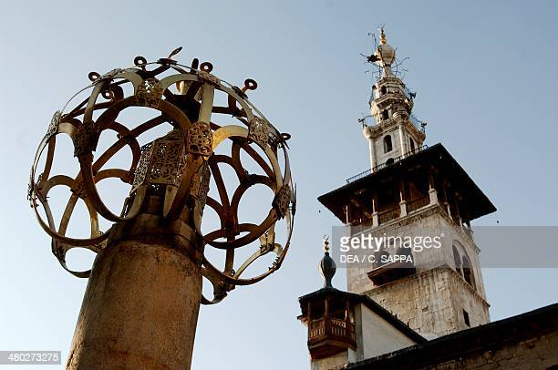 The Minaret of the Bride Umayyad Mosque also known as the Great Mosque of Damascus old city of Damascus Syria