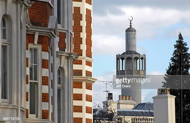 The minaret of the London Central Mosque near Regent's Park London Islam Islamic Moslem Muslim Regents minarets
