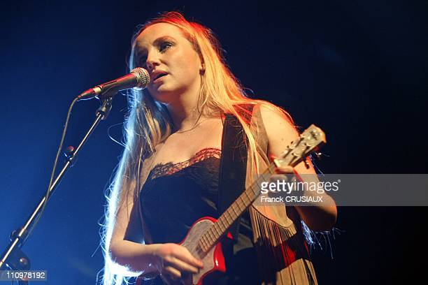 The mini concert of Chloe Mons wife of Alain Bashung in Lille France on April 5th 2008