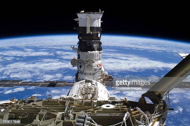 The Mini Research Module 2 docked with the International Space Station.