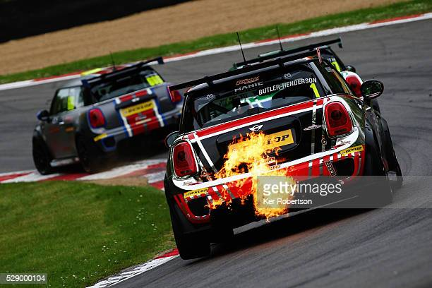 The MINI UK VIP of Charlie ButlerHenderson drives during the Mini Challenge support race prior to qualifying for the Blancpain GT Series Sprint Cup...