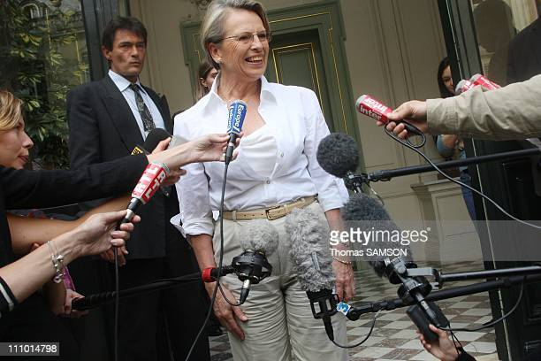 The Minister Michele AlliotMarie convenes responsible for combating terrorism and homeland security in Paris France on July 1st 2007 Michele...