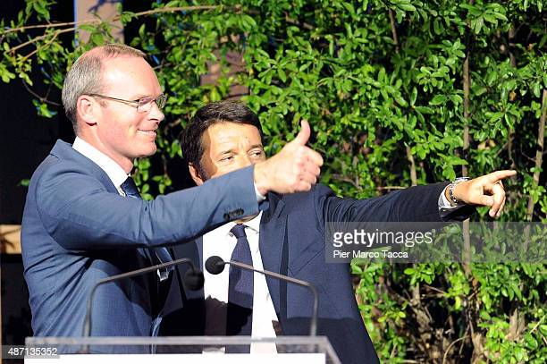 The Minister of Agriculture of Ireland Simon Coveney and Italian Prime Minister Matteo Renzi attend the event 'It begins with me How the world can...