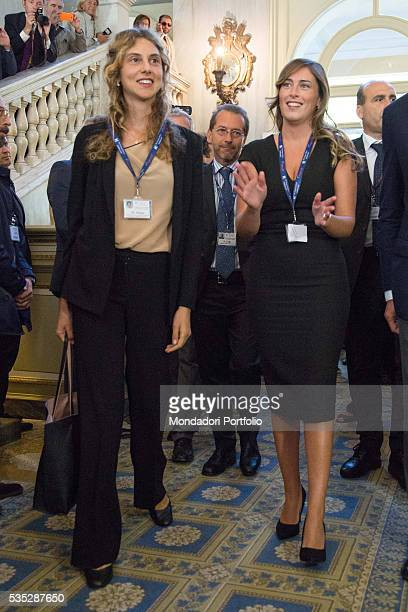 The Minister of Public Administration and Simplification of the Italian Republic Marianna Madia and the Minister of Constitutional Reforms and...