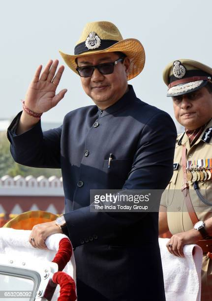 The Minister of State for Home Affairs Shri Kiren Rijiju during the 48th CISF Day Parade in Ghaziabad Uttar Pradesh
