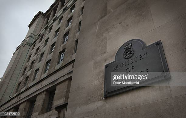 The Ministry of Defence on October 13 2010 in London England Government departments are braced for budget cuts when Chancellor of the Exchequer...