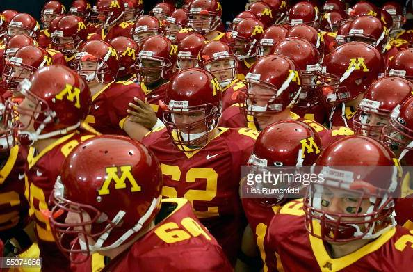 The Minnesota Golden Gophers get ready to take on the Colorado State Rams on September 10 2005 at HHH Metrodome in Minneapolis Minnesota Minnesota...