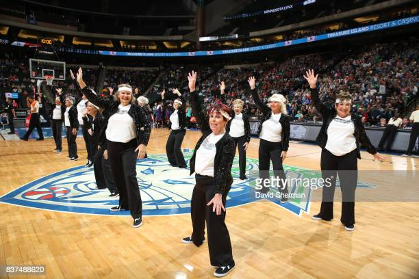 The Minnesota Lynx dance team performs during the game against the Phoenix Mercury on August 22 2017 at Xcel Energy Center in St Paul Minnesota NOTE...