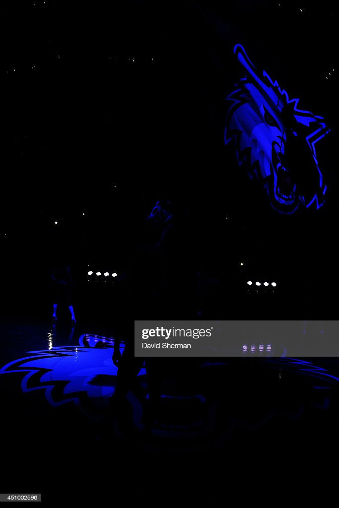 The Minnesota Timberwolves are introduced before the game against the Chicago Bulls on April 9, 2014 at Target Center in Minneapolis, Minnesota.