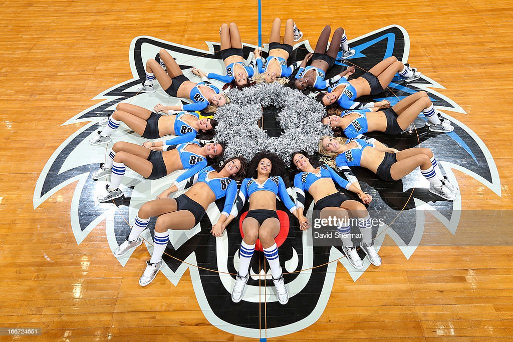 The Minnesota Timberwolves dancers pose for a photo following the team's final home game of the season, played against the Utah Jazz, on April 15, 2013 at Target Center in Minneapolis, Minnesota.