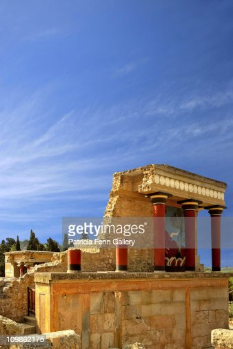 The Minoan Palace Of Knossos Stock Photo  Getty Images