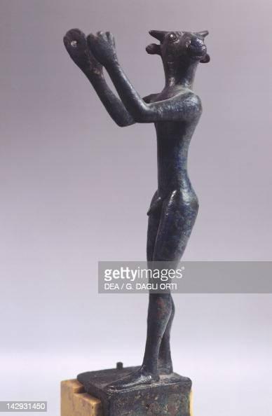 The minotaur bronze statue Greek Civilization 6th Century BC Paris Musée Du Louvre