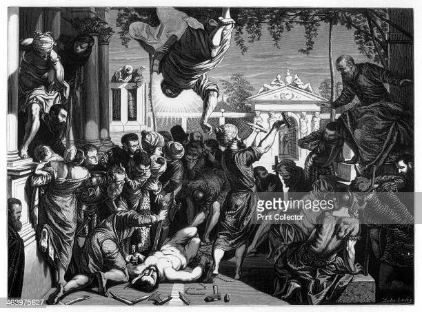 'The Miracle of St Mark Freeing the Slave' 1548 Found in the collection of the Gallerie dell'Accademia Venice A print from Les Chef D'oeuvre de la...