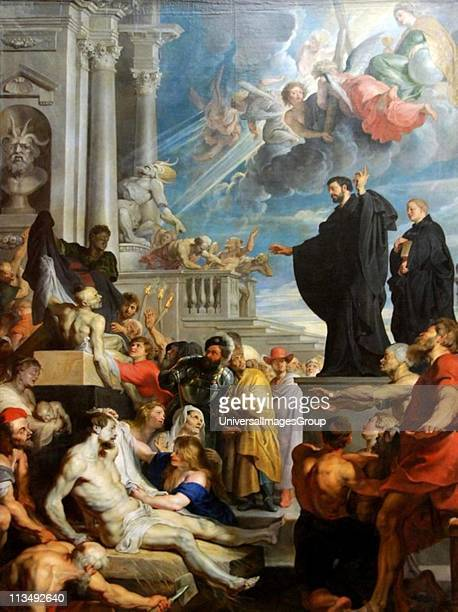 The Miracles of St Francis Xavier' 1617 Oil on canvas Peter Paul Rubens Flemish painter St Francis Xavier Roman Catholic missionary and cofounder of...