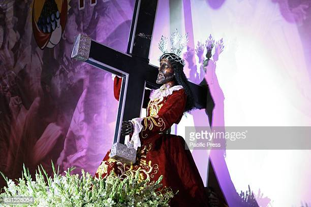 GRANDSTAND MANILA NCR PHILIPPINES The miraculous icon of the Black Nazarene is set in the middle of the Stage of Quirino Grandstand as part of the...