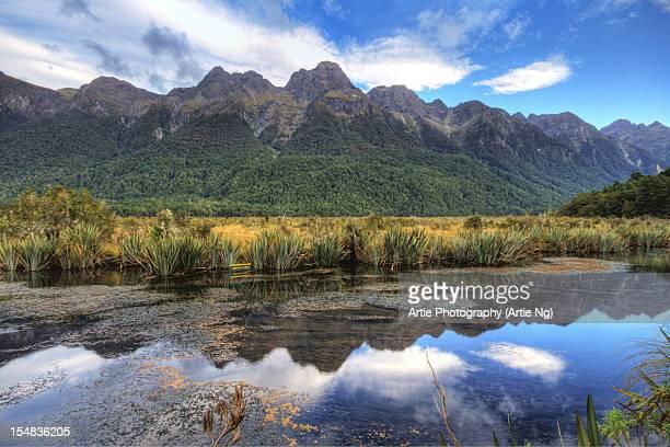 The Mirror Lake, Eglinton Valley, Fiordland